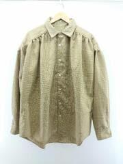 Painter Shirt/ペインターシャツ/長袖シャツ/M/ウール/ベージュ/チェック