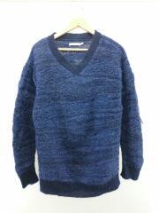セーター(厚手)/S/アルパカ/BLU