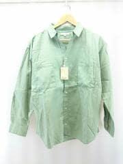 タグ付/CLピケWポケットシャツ/長袖シャツ/M/コットン/グリーン