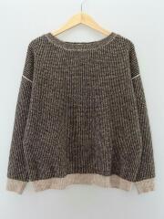 セーター(厚手)/FREE/ポリエステル/ブラウン