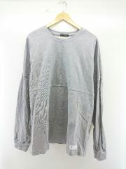 長袖Tシャツ/XL/コットン/GRY