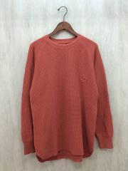 17AW/BIG WAFFLE/セーター(厚手)/M/コットン/ORN/BE-152301