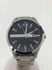 AX2103/クォーツ腕時計/アナログ/ステンレス/BLK/SLV