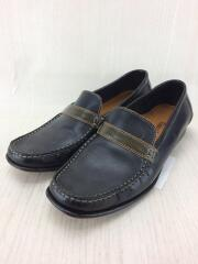 Leather Moc Toe Loafers/ローファー/23.5cm/BLK/レザー/D15340