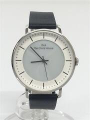 レザーベルトクォーツ腕時計/アナログ/WHT/MCAMY1604