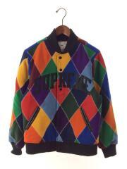 15AW/Harlequin Wool Varsity Jacket/ブルゾン/S/ウール/マルチカラー