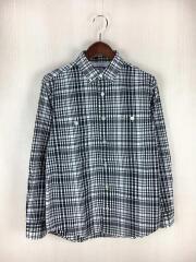 ボタンダウンシャツ/S/コットン/BLK/NT3406N