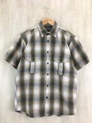 FEATHER CLOTH SHORT SLEEVE SHIRT/XS/コットン/BRW/チェック/20008229