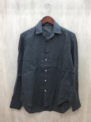 リネンシャツ/XXS/リネン/GRY/2910700567
