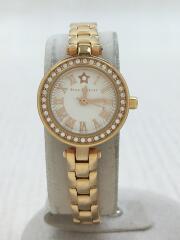 STARS on TIME/ブレスレット付/クォーツ腕時計/アナログ/WHT/GLD/2SW0979