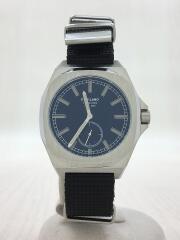 MTNJ04/クォーツ腕時計/アナログ/ナイロン/BLK/BLK