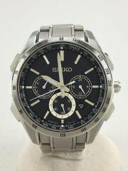 BRIGHTZ/ソーラー腕時計/アナログ/BLK/SLV/8B92-0AB0/SAGA193
