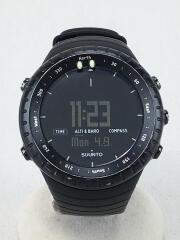 CORE/クォーツ腕時計/デジタル/ラバー/BLK/cr2032
