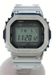 35周年記念/フルメタルソーラー腕時計/デジタル/BLK/SLV/GMW-B5000D-1JF