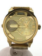 DZ-7306/クォーツ腕時計/アナログ/ステンレス/GLD/GLD/コマ有
