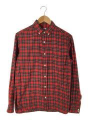 ボタンダウンタータンチェックシャツ/M/コットン/RED/チェック/