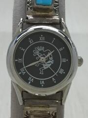 ターコイズ付/クォーツ腕時計/アナログ/--/BLK/SLV