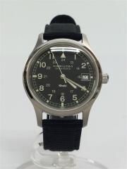 KAHKI FIELD AUTOMATIC/自動巻腕時計/アナログ/ナイロン/BLK/BLK/9721B