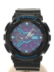 GA-110HC/クォーツ腕時計・G-SHOCK/デジアナ/ラバー/BLU/BLK