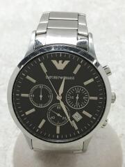 クォーツ腕時計/アナログ/ステンレス/BLK/SLV/AR-2434