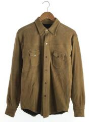SUEDE LEATHER WESTERN SHIRT//L/山羊革/CML/211147601