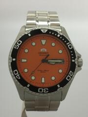 自動巻腕時計/アナログ/ステンレス/ORN/オレンジ/SLV/AA02-C8-A/B960194