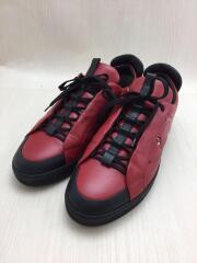 ローカットスニーカー/UK9/RED/7E1031/赤/レッド