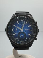 クォーツ腕時計/アナログ/ブラック/VK67-K090