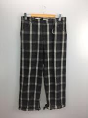 straight pants/ストレートパンツ/2/コットン/BLK/チェック/18S45