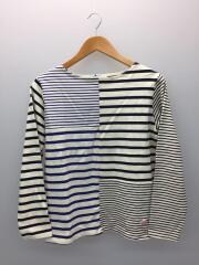 長袖Tシャツ/36/コットン/WHT/ボーダー/バスクシャツ/白