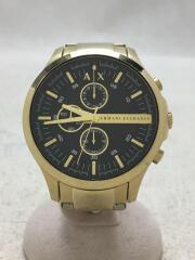 クォーツ腕時計/アナログ/--/BLK/GLD/AX2137/741811/ブラック/ゴールド