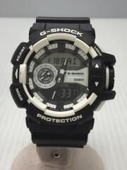 クォーツ腕時計・G-SHOCK/デジアナ/ラバー/ブラック/GA-400