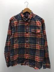 長袖シャツ/L/コットン/BLU/ブルー/チェック