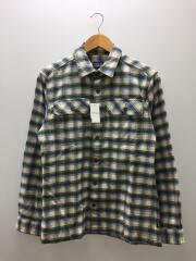 ネルシャツ/長袖シャツ/XS/コットン/ブルー/クリーム/チェック