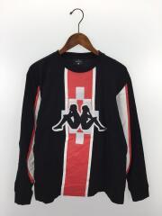×Kappa/長袖Tシャツ/S/コットン/ブラック/cmab022s18685054/ビッグロゴ