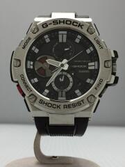 ソーラー腕時計・G-SHOCK/アナログ/ラバー/GRY/BLK/Bluetooth G-STEEL  GST-B100-1AJF