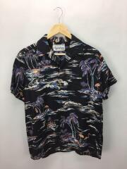 フラミンゴ/半袖シャツ/S/キュプラ/ブラック