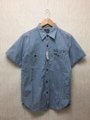 5594/ステンシルシャンブレーワークシャツ/40/コットン/IDG