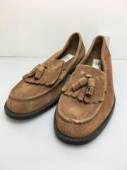 tassel loafer/26.5cm/ブラウン/スウェード/裏ボア