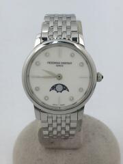 ムーンフェイズ/クォーツ腕時計/アナログ/ステンレス/WHT/SLV/fc-206x1s5/6