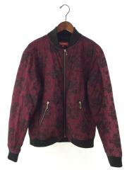 17SS QUILTED LACE BOMBER JACKET/キルティングジャケット/M/コットン/花柄