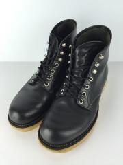 6インチクラッシクプレーントゥブーツ/US7/ブラック/レザー/8165/ワークブーツ