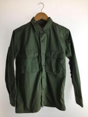 エンブロイダリーミリタリーシャツ/S/コットン/KHK/NUC73SH1225HP-SP/刺繍