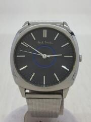 5530-f52258/クォーツ腕時計/アナログ/ステンレス/BLK/SLV/小傷あり