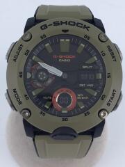 GA-2000-5AJF/クォーツ腕時計・G-SHOCK/デジアナ/ラバー/KHK/KHK
