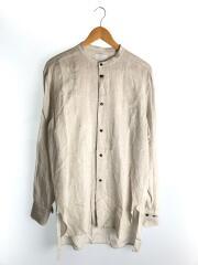 20SS/STAND COLLAR/スタンドカラーシャツ/2/リネン/BEG/20SLSG02/ノーカラー/