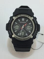 AWG-M100-1AJF/ソーラー腕時計・G-SHOCK/デジアナ/BLK
