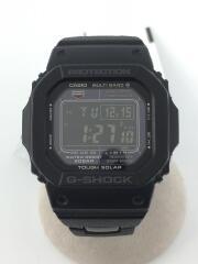 GW-M5610BC-1JF/ソーラー腕時計・G-SHOCK/デジタル/BLK/BLK/メタル/ステンレス