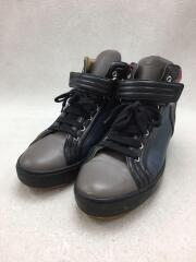 ハイカットスニーカー/ベルクロ/27cm/マルチカラー/レザー/シューズ/靴