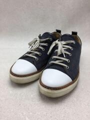 ローカットスニーカー/40/WHT/キャンバス/レザー/シューズ/靴